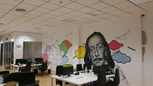 Dali , decoración de oficinas | Paintings by El ROJO... graffitero  , dedicado a dar color en lugares grises