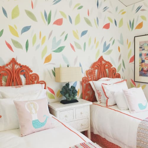 Wall Treatments by Elan Evans seen at Private Residence, San Francisco - Stenciled Room