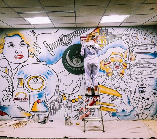 Art Curation by EyeRoll Creative seen at New Orleans, New Orleans - Zehnder Communications