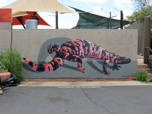 Street Murals by Anat Ronen seen at Kayenta Art Village, Ivins - The Gila Monster