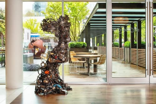 Sculptures by Brian Mock seen at The Hotel Zags Portland, Portland - Metalmorphosis III