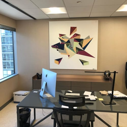 Paintings by Phillip Scott seen at CS Insurance Strategies, Inc, Chicago - Origami Painting