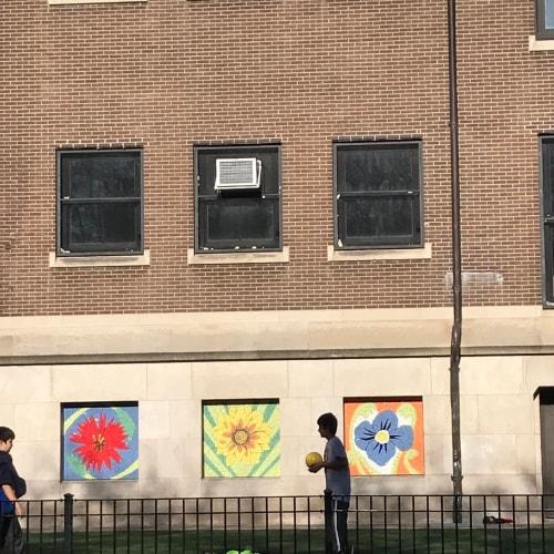 Wall Treatments by Ginny Sykes seen at Hamilton Elementary School, Chicago - Mosaics