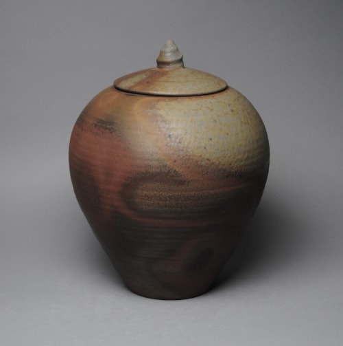 Vases & Vessels by John McCoy Pottery seen at West Palm Beach, West Palm Beach - Covered Jar Wood Fired