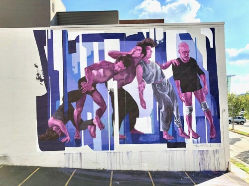Street Murals by Taylor White seen at Alfred Williams & Company, Raleigh - Abstracted Motion