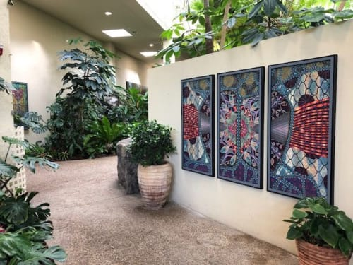 Paintings by Nancy Hayes Art seen at Cell Signaling Technology, Inc., Danvers - Getting To The Core