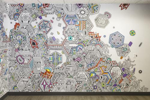 Murals by Sophie Roach seen at Uber Greenlight, Austin - Uber Austin Office Mural 2015