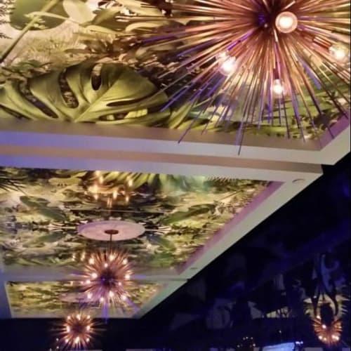 Murals by Amy Rader seen at Gold Room, Atlanta - Gold Room