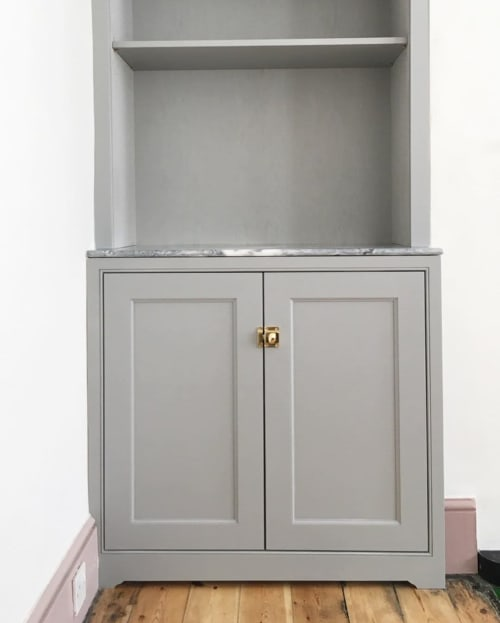 Furniture by Nathan Christopher seen at Private Residence - Twin alcove cabinets