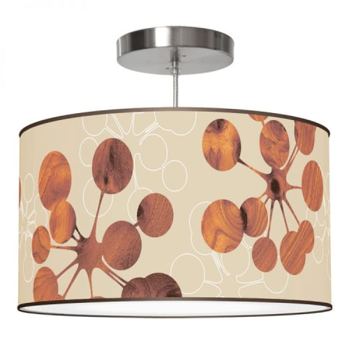Pendants by Jef Designs seen at Costa Mesa, Costa Mesa - Bubble Print Shade Drum Pendant Lamp