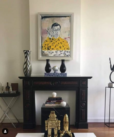 Paintings by Adam Hemuss seen at Private Residence, The Hague - Vauxhall Boy (Yellow)