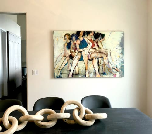 Paintings by Jylian Gustlin at Private Residence, Park City - Sirens 5