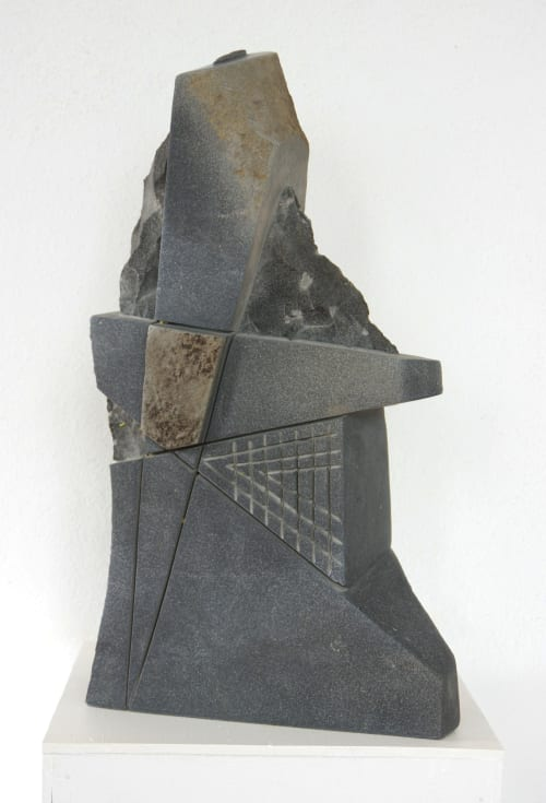 Sculptures by Kees Ouwens seen at La Coyotera Taller Estudio - stone sculptures.