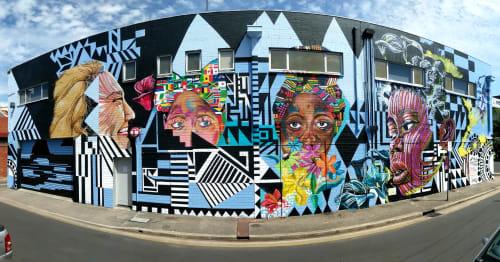 Street Murals by Julia Townsend seen at Adelaide, Adelaide - SANAA Festival, Adelaide 2019 Mural