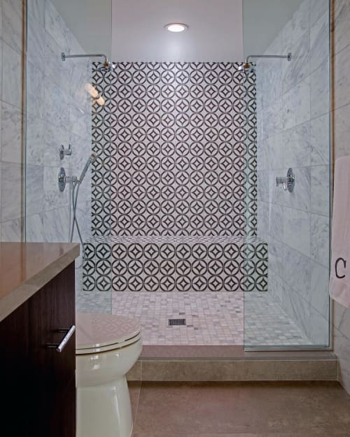 Tiles by StoneImpressions seen at Private Residence, Palm Springs - Hayden Duo