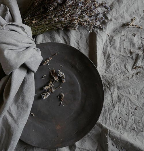 Ceramic Plates by Kate Cooke Ceramics seen at Private Residence, Frome - Black dinner plate