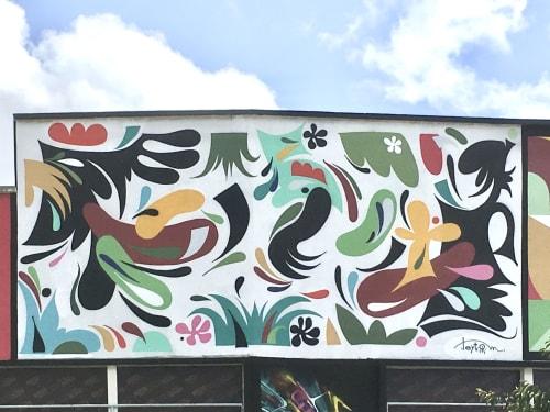 Murals by LEYTO seen at Saint-Brieuc, Saint-Brieuc - Robien Libré