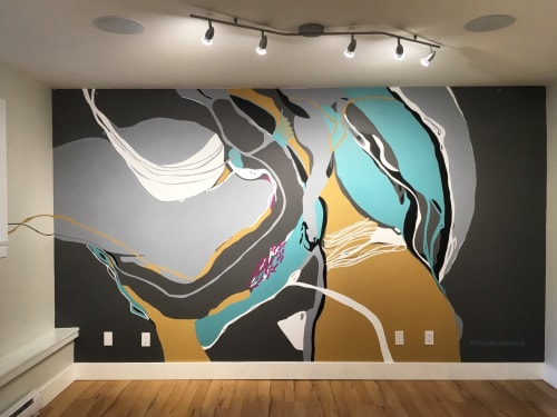 Murals by Marlene Lowden seen at Private Residence - Studio Mural