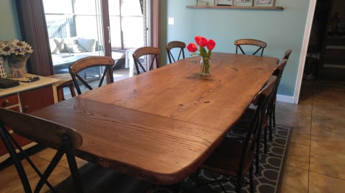 Tables by Urbn Timber seen at Private Residence - Sherman Rustic Table