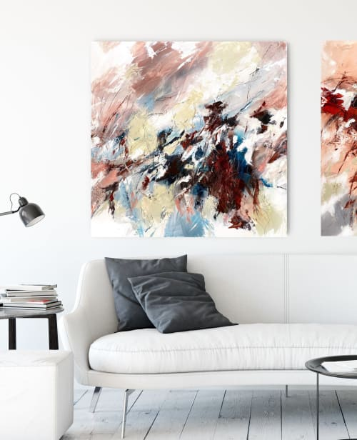 Paintings by Cristina Dalla Valentina seen at Private Residence, Verona - When the wind is so sweet /2