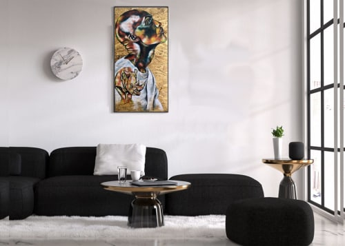 Paintings by Afrocentric Keyy seen at New York, New York - Armor
