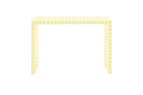Tables by IKON KØBENHAVN - Short Console Table, Light Yellow