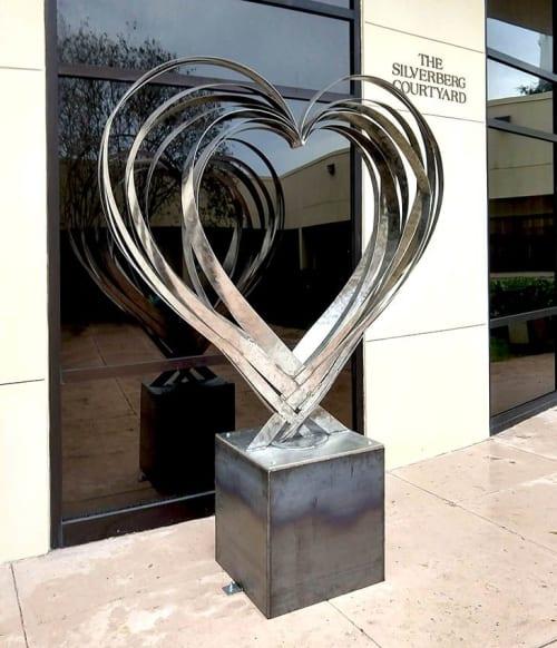 Sculptures by Donald Gialanella seen at Temple B'nai Israel, Oklahoma City - Love Heart