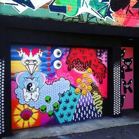 Street Murals by Shaina Kasztelan seen at Graffiti Alley, Toronto - Outdoor Mural
