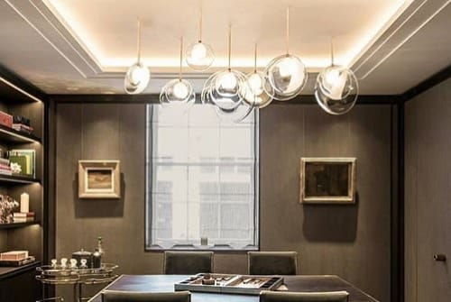 Pendants by Vezzini & Chen seen at Helen Green Design, London - Gem lights