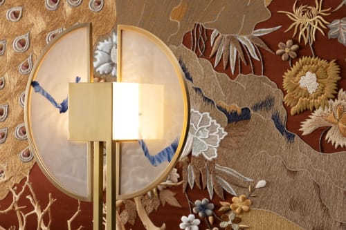 Lamps by Ori Bespoke seen at Private Residence, London - KunLun