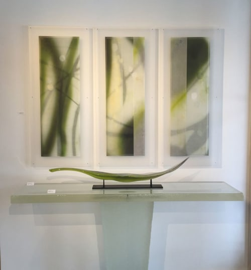 Paintings by Jane Guthridge seen at 800 E 18th Ave, Denver - The Space Between -triptych 14