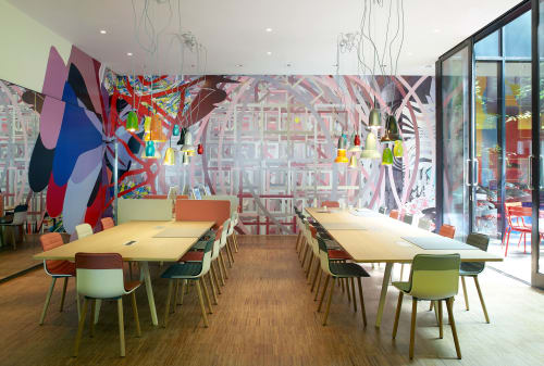 Murals by assume vivid astro focus at citizenM London Bankside hotel, London - Citizen M Hotel Mural
