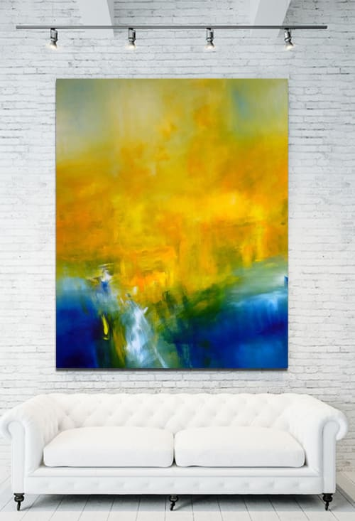 Paintings by CHRISTIAN BAHR seen at Private Residence, Palm Springs - THE SEA INSIDE US (triptych)