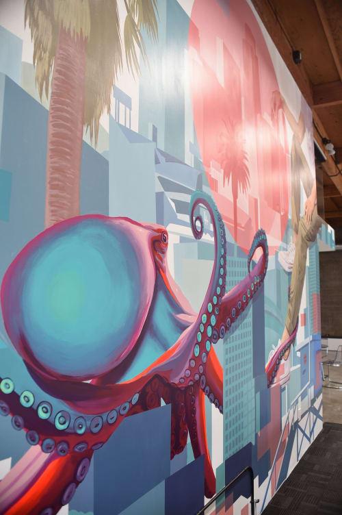 Murals by Whitman Lindstrom seen at El Segundo, El Segundo - Nomad Mural