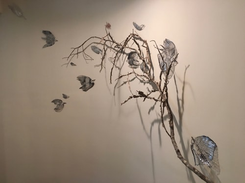 Wall Hangings by Leisa Rich at Private Residence, Atlanta - Going To Roost (But not quite yet!)