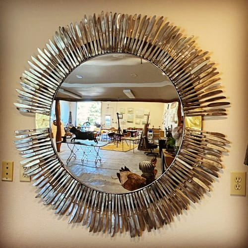 Murals by KIRSTEN KAINZ seen at Private Residence, Bozeman - Feather Mirror