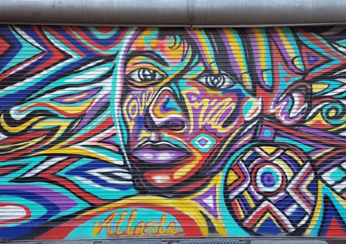 Murals by Corey Barksdale seen at Atlanta, Atlanta - Corey Barksdale