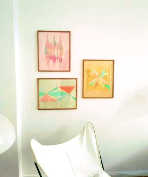 Paintings by Studio Carla P Bertone seen at Private Residence, Berlin - Paper works Turin Serie