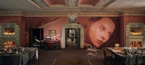 Murals by Rone seen at Burnham Beeches, Sherbrooke - The Dining Room