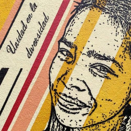 Street Murals by DjLu / Juegasiempre seen at Private Residence, Bogotá - Unidad en la diversidad / Unity in diversity