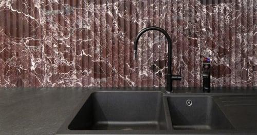 Tiles by Skheme seen at Creator's Studio, Paddington - Stone Concave Levanto