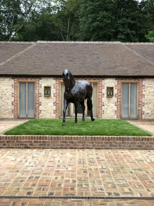 Sculptures by Edward Waites Sculpture seen at Private Residence - Stallion sculpture