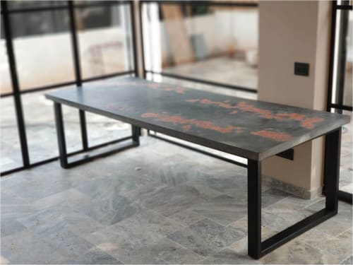 Tables by Linski Design - Concrete Art seen at Private Residence, Tel Aviv-Yafo - CASUAL TABLE