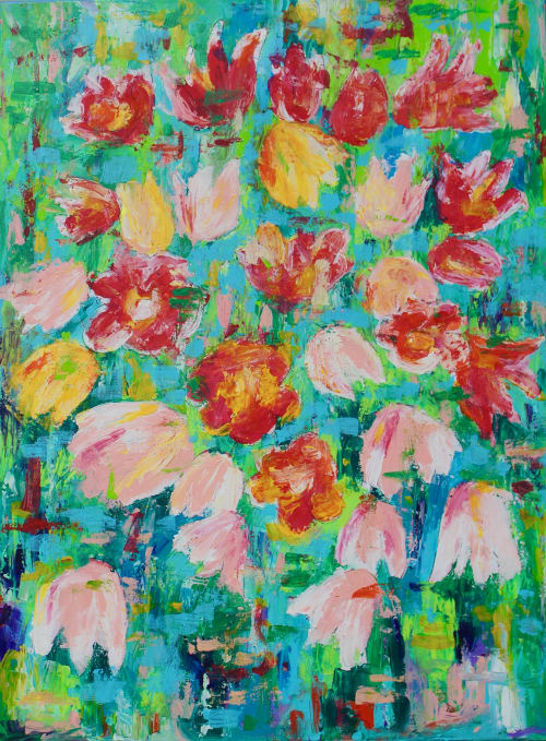 Paintings by Annette Rivers Art seen at Charleston, Charleston - Tulips