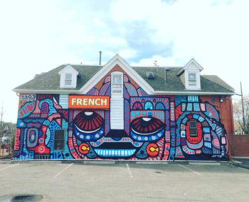 Street Murals by dAcRuZ seen at 571 Galapago St, Denver - The Alliance Française of Denver