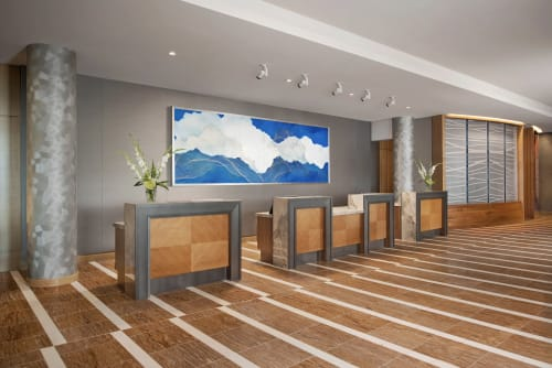 Paintings by Tracie Cheng at InterContinental San Diego, San Diego - The Waves and Their Breakers