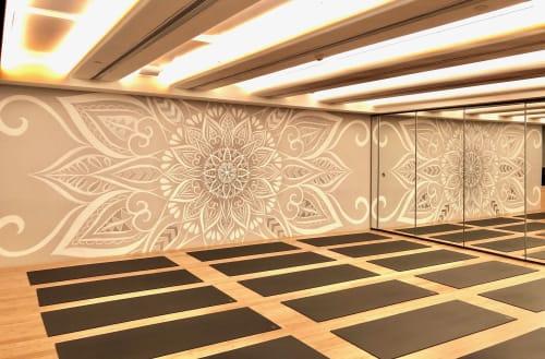 Murals by Urbanheart seen at Century Avenue, Pudong Xinqu - Natural Yoga Studio Mandala Mural