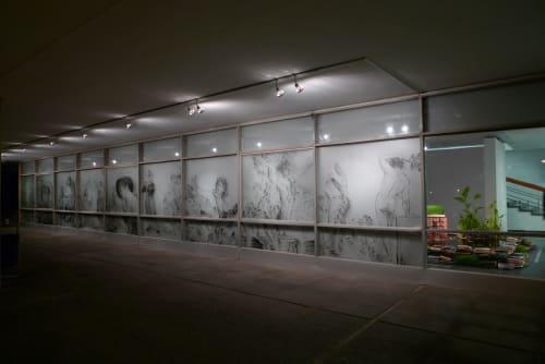 Murals by Jossef Krispel seen at National Library of Israel, Jerusalem - Always Play, Always Complete