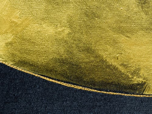 Paintings by Inga Liksaite seen at Private Residence, Vilnius - Yellow Shape