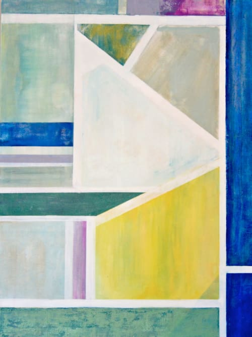 """Paintings by Benna Holden seen at Chaffetz Lindsey, New York - """"Linear Painting 3"""""""